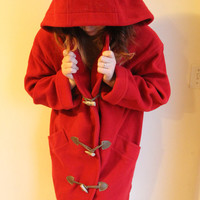 Red delicious apple coat | Portland to Portland Thrift