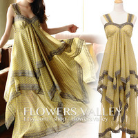 Bridesmaid Dress / Romantic / dresses /Fairy / Dreamy / Bridesmaid / Flower / Silk chiffon / Bride