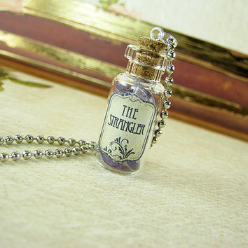 GAME OF THRONES The Strangler 2ml Glass Bottle Necklace - Glass Cork Vial Pendant - Song of Ice & Fire Poison Charm