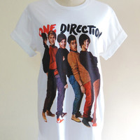 One Direction Shirt 1D English Boy Band Pop Rock Music -- Music Tee Shirt Women T-Shirt Men T-Shirt Music Shirt Size M
