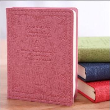 Hot A4 A6 leather Diary Cute notebook paper 128 sheets personal Diary school Notepad note book Office School Supplies Gift