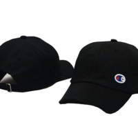 Black Champion Adjustable Cotton Baseball Golf Sports Cap Hat