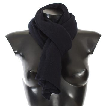 Blue Cashmere Knitted Scarf