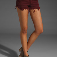 Brandy Melville Jean Shorts in Burgundy from REVOLVEclothing.com