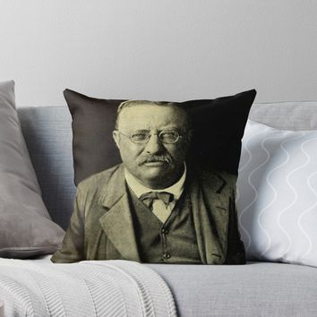 'THEODORE ROOSEVELT 3' Throw Pillow by IMPACTEES