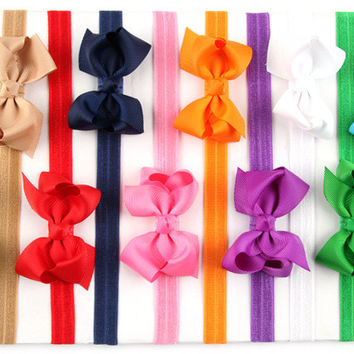 Big Sale 20Clr children accessories Infant newborn Baby girl accessories ribbon bow Toddler Head bands Headwear kids Hair Band