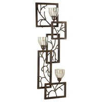 "Uttermost Iron Branches Wall Sconce 6 x 14.25 x 42"", Dark Bronze"
