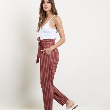 International Travels Striped Pants