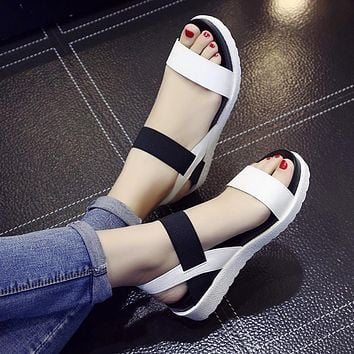 Summer shoes Hot Selling sandals women peep-toe flat Shoes Roman sandals Women shoes sandalias mujer sandalias high quality