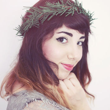 Pine and Twig Floral Hair Crown