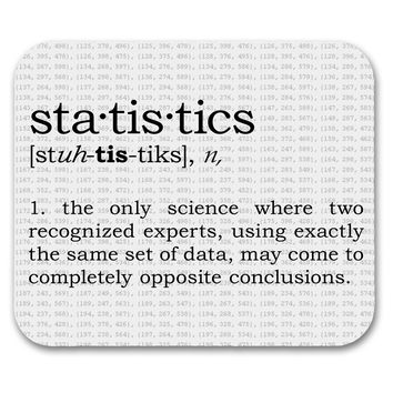 Statistics Definition - mouse pad for geeks, nerds and scientists