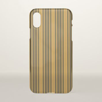 Orange and Black Stripes iPhone X Case
