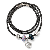 Build Your Own Leather Charm Bracelet and Charm Beads