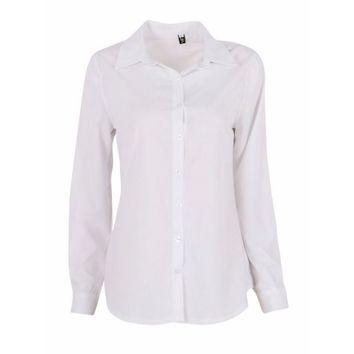 EFINNY Womens Solid OL Slim Fit Long Sleeve Blouse Button Down Shirt Top Casual Blouses - Walmart.com