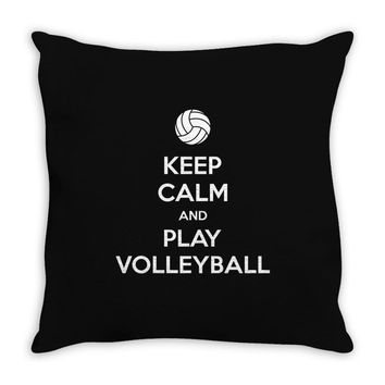 Keep Calm and Play Volleyball Throw Pillow