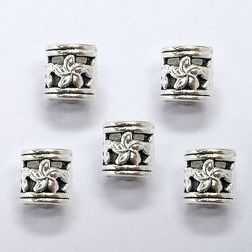 4x(8mm hole) Tibetan Silver DREADLOCK BEADS, DREAD Hair Beads,Dreadlock Accessories,dreadlock bead sets,Dreadlock Jewelry,Hair Accessories,