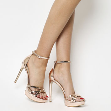 Office Hey Day Platform Heel Sandals Rose Gold - High Heels