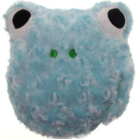 "Blue Frog Pillow Color LED Light Up Flash Plush 9"" Microbeads Home Bedroom Decor"