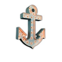 Anchor Vintage Marquee Lights Sign (White Gloss)
