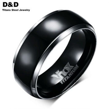 Wedding Band - Men's Black titanium wedding band