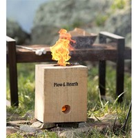 BlazingBlock Portable Outdoor Wood Bonfire | Fire Starters & Fatwood