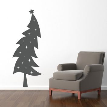 Christmas Tree Wall Decal - Holiday wall decor - Christmas Wall Art - Xmas Decor - Extra Large