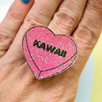 Kawaii Conversation Heart Ring