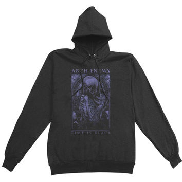 Arch Enemy  Time Is Black Girls Jr Hooded Sweatshirt Black Rockabilia