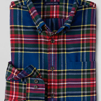 Men's Traditional Fit Long Sleeve Flannel Shirt from Lands' End