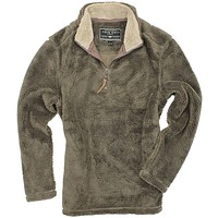 Pebble Pile Pullover 1/2 Zip in Cocoa Brown by True Grit - FINAL SALE
