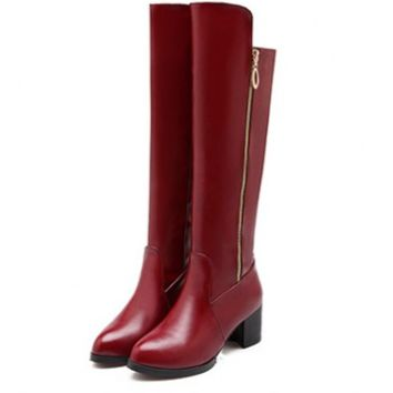 Womens Modern Knee High City Boots