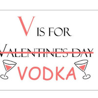 GiftGenius: V is for Vodka Greeting Cards