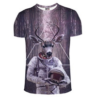 Deer Nasa gear galaxy nebula trendy shirt tee t-shirt fashion raver clubbing  NEKO