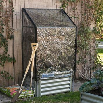 Metal Raised Garden Bed Planter Box with Greenhouse Cover
