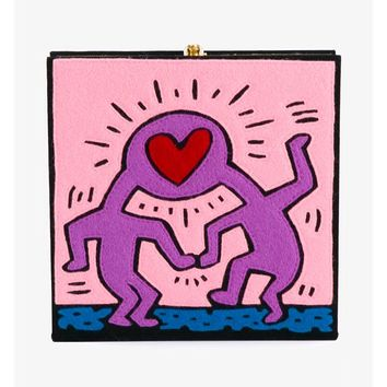 OLYMPIA LE-TAN | Keith Haring Love Book Clutch | Womenswear | Browns Fashion