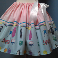 Adventure Time Skirt, Full Skirt, Plus Size, All Sizes, Kawaii, Cosplay.