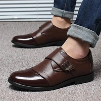 Hot Sale Genuine Leather Black Brown Men Flats Shoes,Hand Sewing Men Oxfords Zapatos Hombres,Trendy Men Leather Shoes