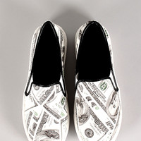 Money Print Slip On Sneaker
