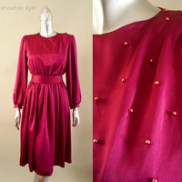 Vintage 1980s Silk Party Dress