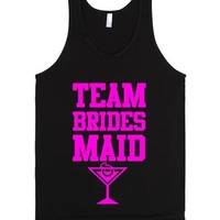 Team Bridesmaid-Unisex Black Tank