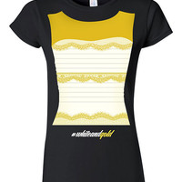 The Dress Is Gold and White Funny T-shirt Tshirt Tee Shirt Joke Humor Gift Tumblr The Dress is Black and Blue #thedress Twitter Internet