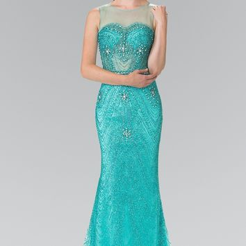 Gorgeous fully beaded sequins prom dress #GL2337