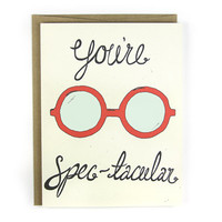 You're Spec-tacular Illustrated Card