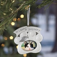 Loving Memory Cat Memorial Christmas Ornament Photo