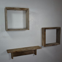 Rustic display shelves, a gorgeous set of 3