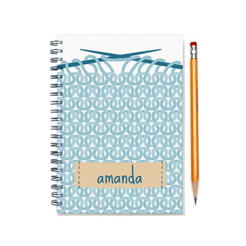 2015-2016 Custom Planner for a Knitter, Customizable daily agenda planner, Knitting Diary, Knitting Enthusiast Gift Idea, SKU: pl knitting