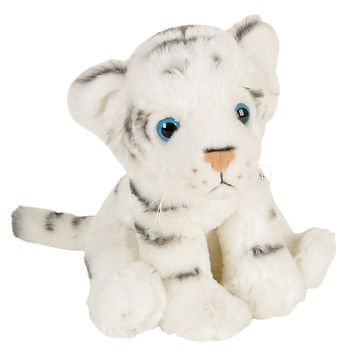 White Tiger Cub Plush Toy