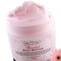 Frosted Pink Cupcake scented Beautiful Body Butter, Paraben Free - with Shea Butter, Cocoa Butter, and Japanese Green Tea (5 oz)