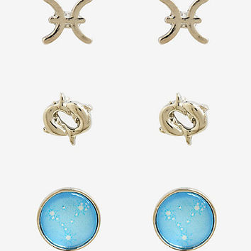 Pisces Zodiac Earring Set