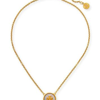 Tory Burch Semi Precious Pendant Necklace sVwTVT4fl